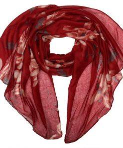 Палантин женский (бордовый)